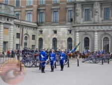 Relevo de la guardia en Estocolmo