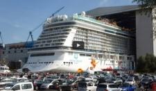 Botadura de un barco de crucero