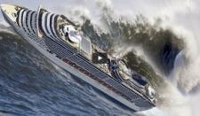Pánico y destrozos en crucero en medio de tempestad