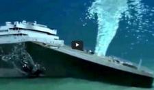 Simulación del hundimiento real del Titanic