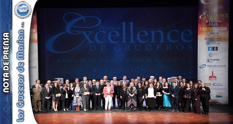 A Coruña se vistió de gala en la ceremonia de entrega de Los Premios Excellence de Cruceros 2020